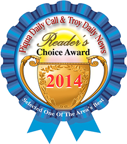 Piqua Daily Call and Troy Daily News Readers Choice Award 2014