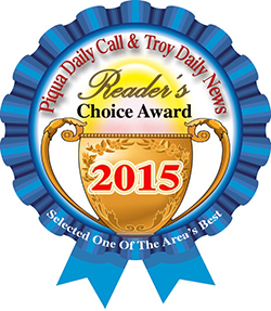 Piqua Daily Call and Troy Daily News Readers Choice Award 2015
