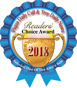 Piqua Daily Call and Troy Daily News Readers Choice Award 2018