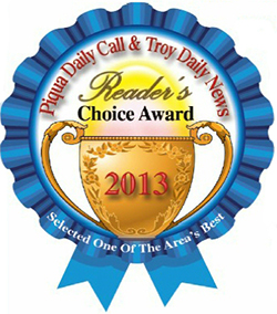 Piqua Daily Call and Troy Daily News Readers Choice Award 2013